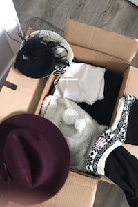box of clothes+accessories (full listing in my ads) all like NEW/ OBO Calgary, T2N 5B3