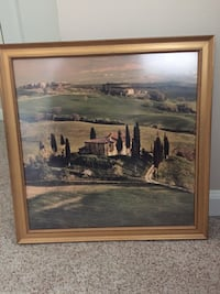 Tuscan Countryside Print Custom Framed with Non-Glare Glass Saint Louis, 63129