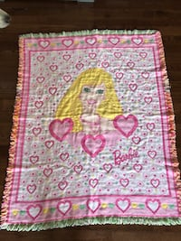 Large Barbie blanket excellent condition leesburg  Leesburg, 20176