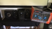 1000watts Blackweb stereo system;Bluetooth,cd player,FM stereo,aux in.Very loud mini player Palm Bay, 32907