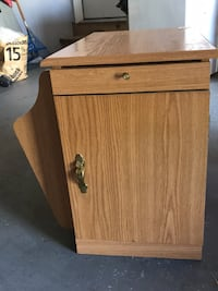 """Desk End Table Cabinet 22"""" deep x 15"""" wide x 20"""" high  Paramount, 21742"""