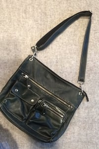 Hunter green leather Fossil bag
