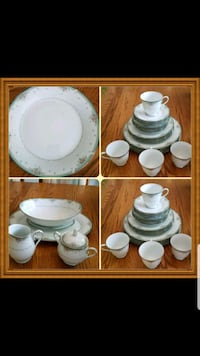 white ceramic dinnerware set collage Chevy Chase, 20815