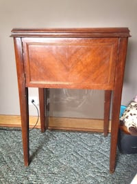 brown wooden single-drawer end table Calgary, T2M 2B2