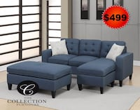 gray fabric sectional sofa with throw pillows Hollywood, 33020