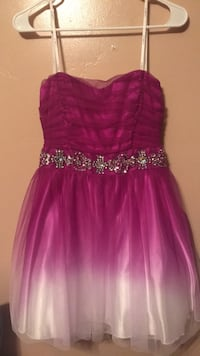 Women's purple and silver strapless  dress West Valley City, 84128