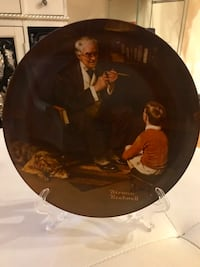1982 Norman Rockwell vintage limited plate