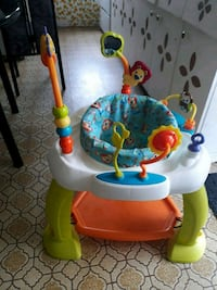 baby's white, red, and green exersaucer Lachute, J8H