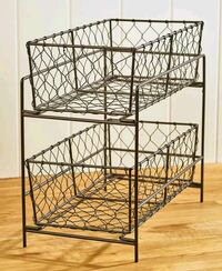2 Tier Country Storage Basket