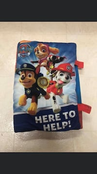 Paw patrol pillow book