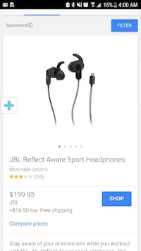 Jbl reflect aware sports headphones
