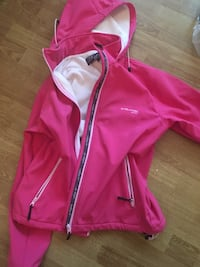 rosa zip-up hettegenser