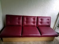 red leather tufted sectional couch Fort Lauderdale, 33301