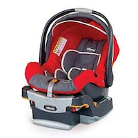Red and black car seat carrier Surrey, V3T 4E7
