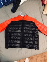 NEVER WORN !!!Black and red  zip-up bubble jacket Longmont, 80501