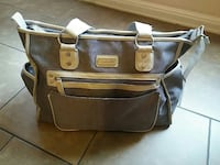 black and brown leather handbag San Antonio