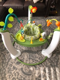 Evenflo ExerSaucer Jump & Learn Stationary Jumper, Safari Friends