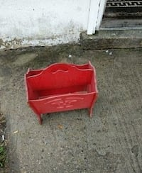 red wooden magazine rack South Amboy, 08879