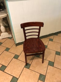 Brown wooden chair Converse, 46919
