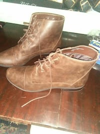 brown leather cap-toe chukka boots
