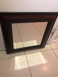 $10 only fancy wooden square mirror 22 cm across see pics excellent condition  Burnaby, V5E 0A4