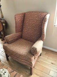 Brown and white floral sofa chair Mount Airy, 21771