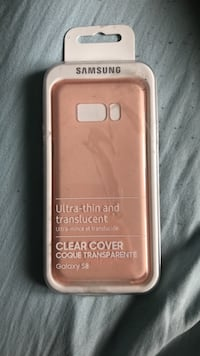 S8 clear cover pink
