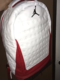 White and red air jordan backpack Surrey, V3W 7E6