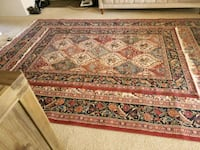 brown and red floral area rug San Jose, 95117
