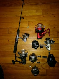 black and red fishing rods Augusta, 30906