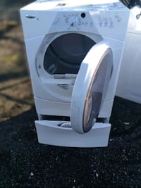 Whirlpool heavy duty dryer with pedestal works good one year warranty  Capitol Heights, 20743