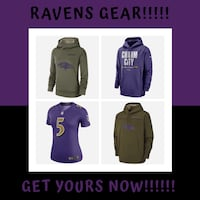 Get your ravens gear now!!!!! Baltimore