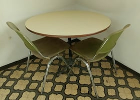 Vintage tables (chairs listed separately).