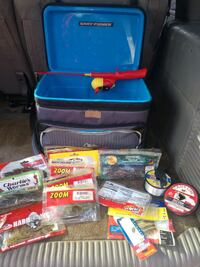 Fishing tackle box and gear  Rogers, 72756
