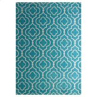 New! Microfiber Blue & White Geometric 8x10 Area Rug - Below Wholesale Cost!!!! San Juan Capistrano