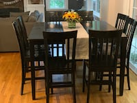 Dining Set: Black Distressed Quincy
