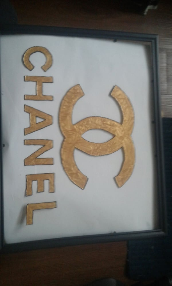 Chanel stained glass art  9698ca40-604f-45a0-85cf-bf6899bd75fb