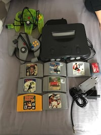 N64 w/2 controllers 7 games and memory card New Tecumseth, L0G