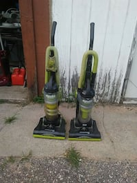 two green and black upright vacuum cleaners Baraboo, 53913