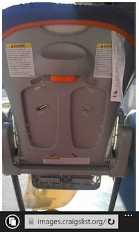 Like new orange and gray chico high chair