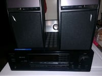 Receiver Yamaha with speakers ,also remote control