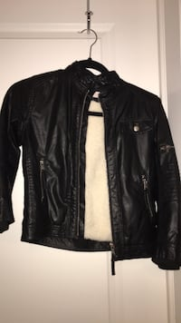 Boys size 7/8 leather jacket from H&M worn once Saskatoon, S7R 0B2