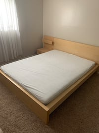 IKEA MALM queen bed with mattress