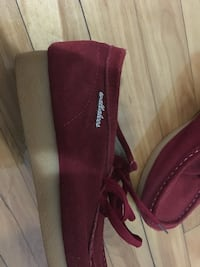 Pair of maroon suede slip-on shoes Montréal, H3S 1T4