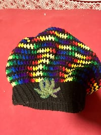 black, yellow, purple, and green knit cap Georgetown, 40324