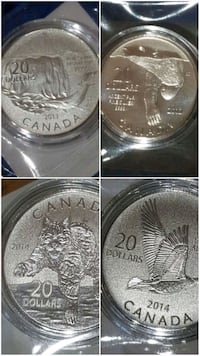 Pure silver limited edition coin set Canada  Toronto, M3C 4C5