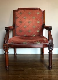 Regal Gold & Burnt Orange Armchair Los Angeles, 90004