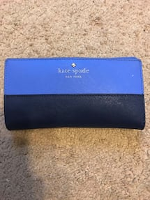 Navy and blue kate spade leather wallet