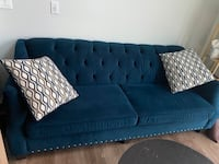 GORGEOUS BLUE COUCH USED FOR 12 MONTHS ONLY