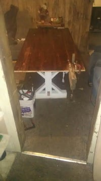 Table out of barn wood 7 ft x38